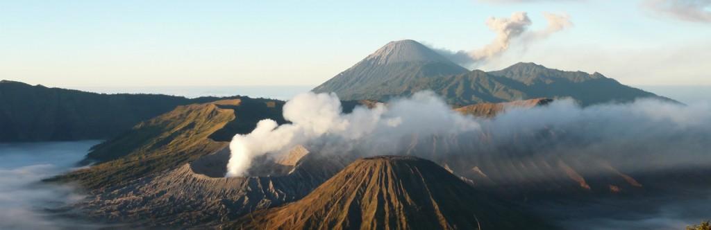 Volcans actifs dans le monde