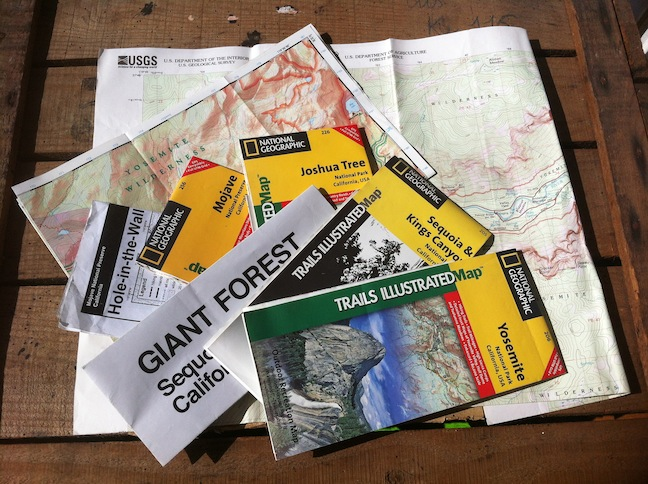 Cartes parcs ouest américains