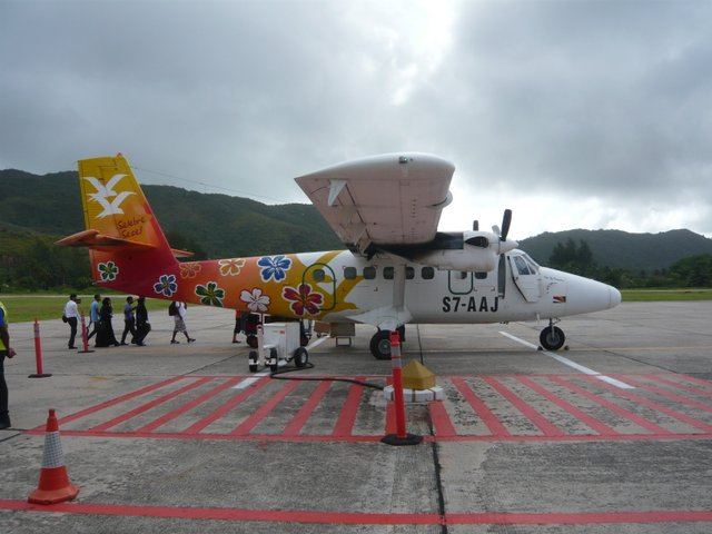 transport avion seychelles