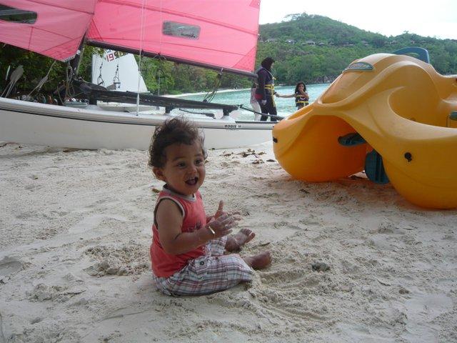 seychelles avec un bebe