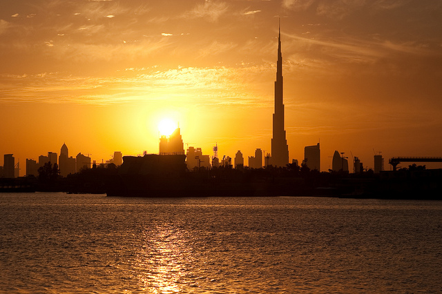 dubaï sunset
