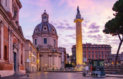 colonne trajan pres piazza venezia