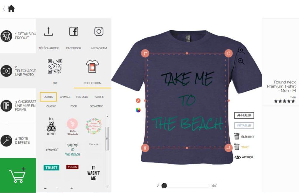 produits de qualité techniques modernes prix incroyable Personnalisez votre t-shirt avec vos souvenirs de vacances